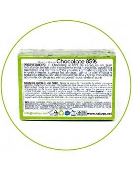 Jabón artesanal NATUYO de Chocolate al 85% de cacao