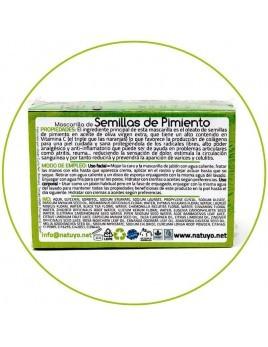Mascarilla de jabón NATUYO de Semillas de pimiento